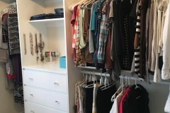 Custom master closet/dressing room with plenty of storage space